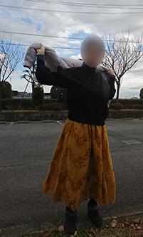 メチャカリマキシスカート