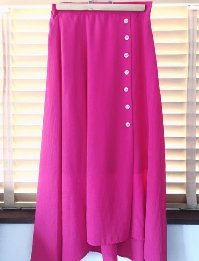 エアクロ初夏ピンクのフレアスカート